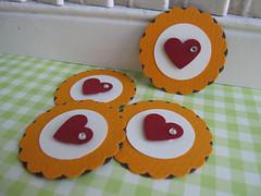 Sweet Heart Flower Embellishments (vsroses.com) Tags: pink scrapbooking paper cards handmade crafts craft card ribbon vsroses