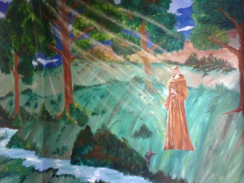 Mural Inside St Francis Inn