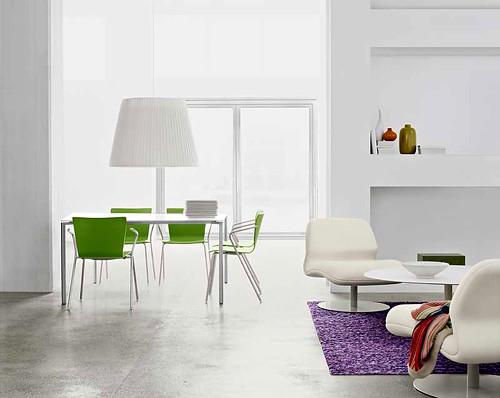 contemporary-white-living-room par baliboro