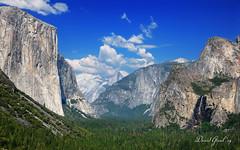 The Valley of Yosemite | RAW (David Giral | davidgiralphoto.com) Tags: california park blue summer sky usa mountains fall water forest day unitedstates cloudy pov falls national valley yosemite halfdome bridalveil capitan