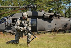 On Guard (G1 Photo) Tags: training soldier army helicopter soldiers blackhawk patrol hlz uh60 fortpolk jrtc armystrong jointreadinesstrainingcenter
