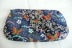 butterfly purse (miyukim26) Tags: pink blue red copyright white floral yellow butterfly handmade purse etsy japanesefabric madeit bluecaravan madeinmelbourne miyukimardon northmelbournemarket moncdesign northcotemarket
