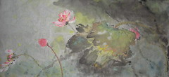 Lian --LOTUS (boydsshufa) Tags: ink watercolor lotus originalart spontaneous xieyi chinesebrushpainting xuanpaper