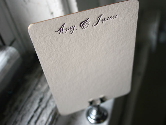 Sweet letterpress custom stationery - by Smock