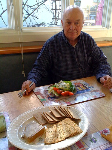 Dad with Swedish lunch