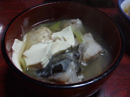 真鱈(マダラ)の味噌汁