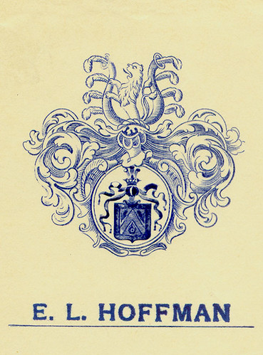 [Bookplate of E. L. Hoffman] par Pratt Libraries