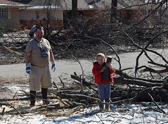 Clean up begins (laurienrick) Tags: ice nature icestorm damage arkansas naturaldisaster springdale january2009 icestorm2009