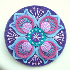 DSCN0861 (APPLIQUE-designedbyjane) Tags: pin brooch felt marrakesh freeformembroidery