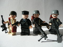 Brick Arms Prototypes: WWII (Hessianizer) Tags: brick arms lego m1 nazi wwii german american ww2 ba stg 44 carbine luger mg42 brickarms stg44