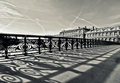 Convergences (StephanieB.) Tags: bridge sky white black paris france lines europe noir shadows perspective ciel pont notre dame blanc lignes ombres sonya550
