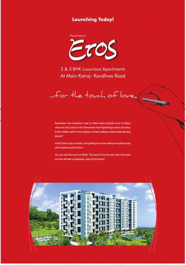 Paramount Eros, 2 BHK 3 BHK Flats at Gokulnagar Chowk, next to Paramount Gardens, Katraj Kondhwa Road, Pune 411 046 Launch Ad - 1
