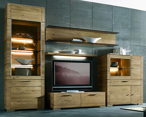 Modern Wall Unit Design from Hartmann - Cubo Solid Wood | Home Trends | Decoration | Gardening from momoy.com