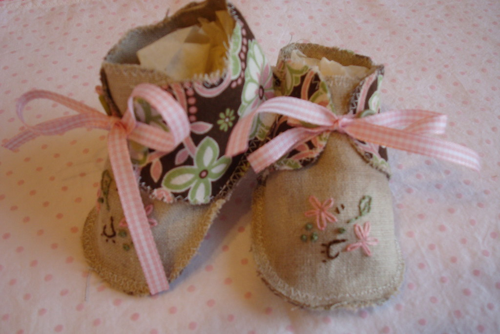 Linen and cotton baby shoes