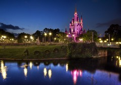 A Magic Evening (Stuck in Customs) Tags: pictures park lighting travel pink vacation panorama castle beauty night composition garden fun photography lights amusement orlando nikon shoot photographer shot florida photos unique background magic details d2x perspective images disney mickey best disneyworld fantasy processing imagine pro dreamy cinderella feeling framing capture emotions picturesque magical hdr magickingdom treatment glamorous ravishing mostviewed disneycharacters highquality mesmeric personable stuckincustoms treyratcliff