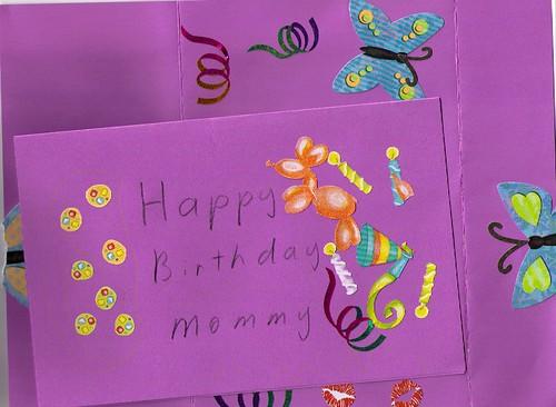 Cassies Art - Mommys Birthday Invitation