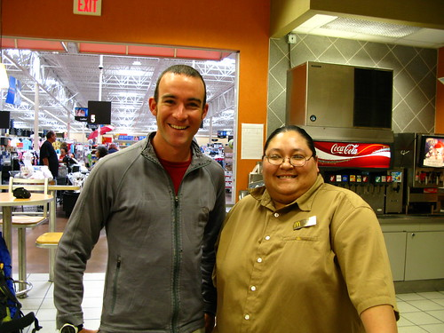 With the manager of McDonlads at the WalMart in Safford, Arizona, USA