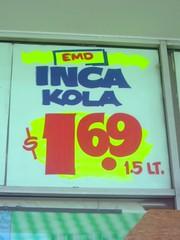 Inca Kola On Sale (Kevin Borland) Tags: usa sign virginia unitedstates sale south beverage supermarket northamerica softdrink peruvian sevencorners northernvirginia incakola southernunitedstates fairfaxcounty grandmart internationalsupermarket arlingtonboulevard