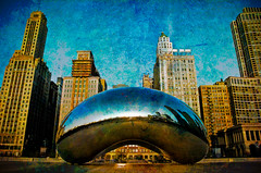 Texturized Bean (iceman9294) Tags: chicago illinois millenniumpark cloudgate thebean chriscoleman d300 mywinners superbmasterpiece iceman9294 iwanttogetd300latertoo