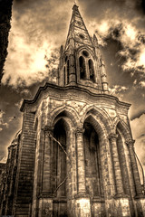 Iglesia Asuncion - Dolores Hidalgo Sepia (jj.figueroa) Tags: church mexico iglesia guanajuato doloreshidalgo photomatix tesoroscoloniales visitingmexico jjfigueroa