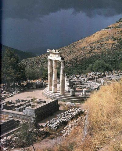 Templo de Apolo, Monte Parnaso, Delfos, Grecia