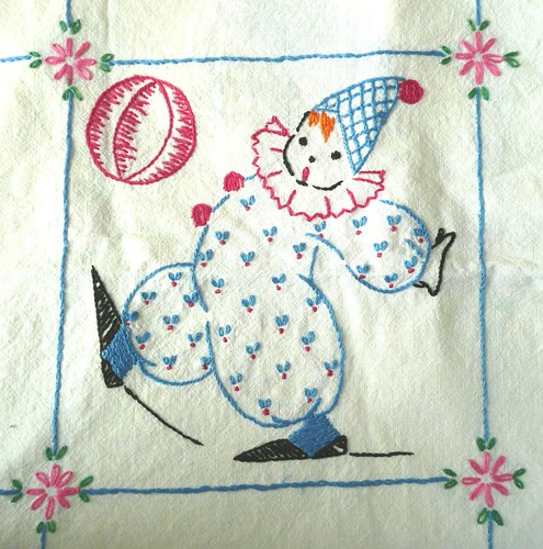 Circus Clown Embroidery