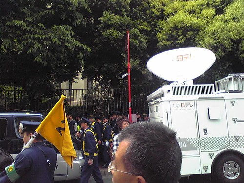 Police keeping things control during Hu Jintao's Waseda University visit 3