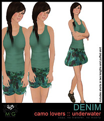[MG fashion] DENIM camo lovers (underwater)