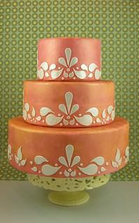 Tangerine paisley-ish cake