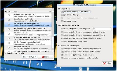 Pidgin - Plugin Notificação de Mensagens