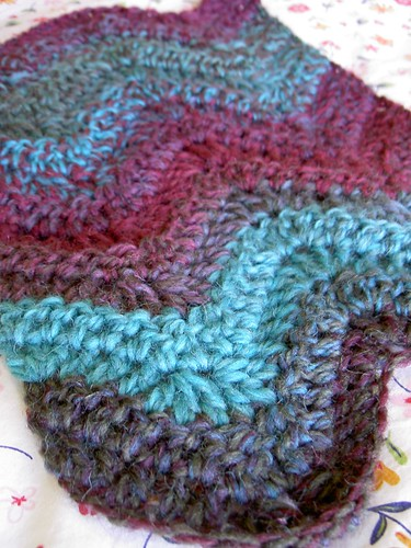 Chevron Waves scarf WIP