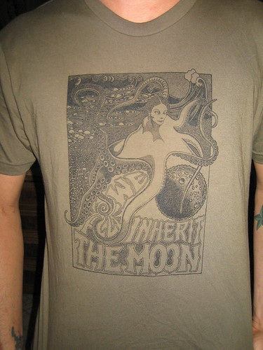 moon shirt in green
