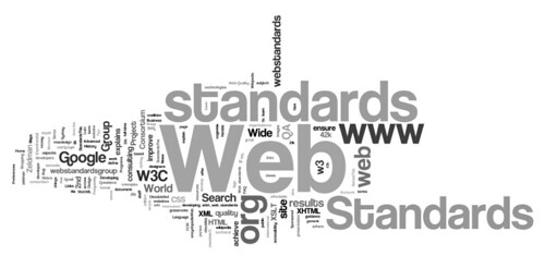 wordle: google results for web standards