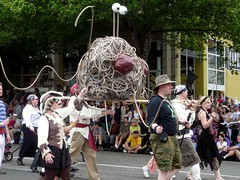 worshippers of the church of the Flying Spaghetti Monster at the Fremont Solstice Parade (missjenn) Tags: