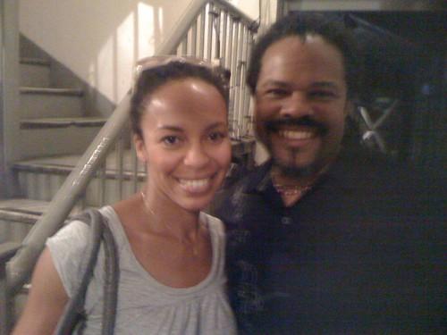 With Eisa Davis