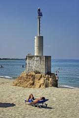 .  (Lefteris Zopidis) Tags: sea summer lighthouse hellas greece larisa lefteris  bluesee    stomio   zopidis zopidislefteris leyteris         greekflicker