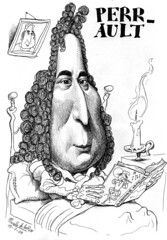 PERRAULT, Charles (Morales de los Ríos) Tags: writers caricaturas philosophers caricatures escritores filósofos