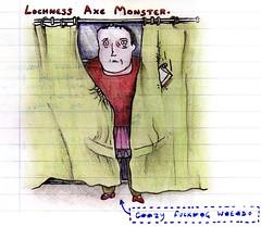 Lochness Axe Monster (Dice Productions) Tags: lochness murderer pinktutu axemonster crazywierdo