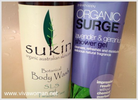 Organic Surge Shower Gel vs Sukin Botanical Body Wash