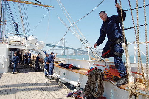 Aboard the Tall Ship USCG Eagle