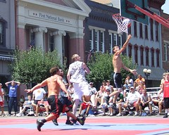 Gus Macker - Nelsonville, OH - 2008 (Day Two) (rbatina) Tags: street boy ohio shirtless people woman man game hot sexy men guy sports boys girl muscles basketball sport lady ball court neck back big athletic boobies breasts tits titties skin little boobs body muscle muscular bare chest crowd contest group young competition guys babe player dude chick tournament event topless half shorts shoulders players bball cleavage gus athlete dudes amateur nelsonville revealing 3on3 tourney macker halfcourt gusmacker rubbertoe