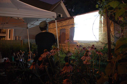 "Bill Daniel backyard screening of ""Who is Bozo Texino"""