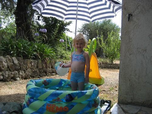 Sophia in the Pool