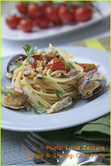 Vermicelli pasta with Mediterranean Clams and ...
