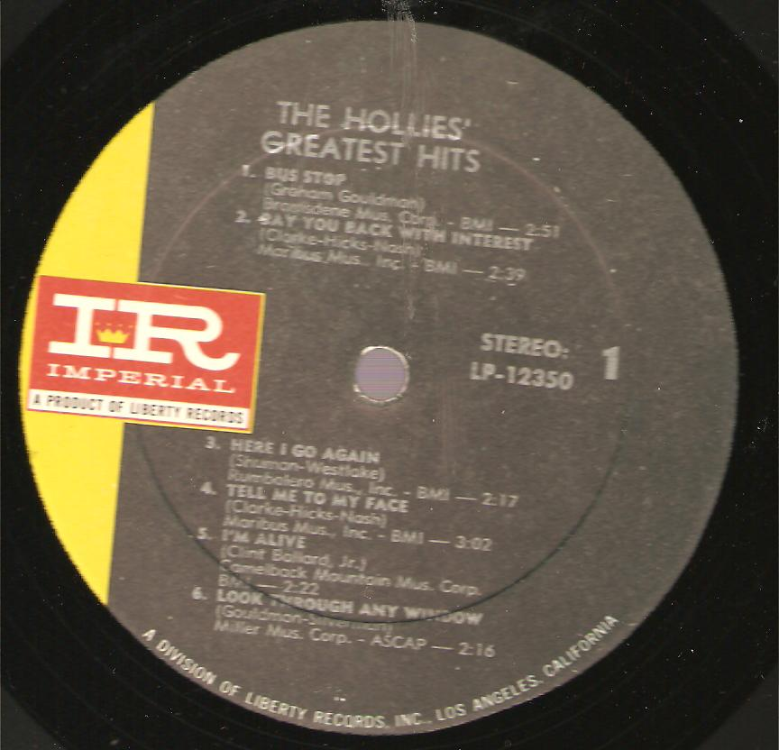 Hollies Greatest Hits. David W. Cook