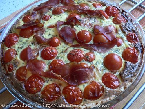 Tomaten-Tarte mit Parmaschinken