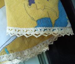 skirt hem (joonbeam) Tags: lace skirt 1950s dragracing joon recycledclothing upcycled foldoverelastic vintagebedspread joonbeam
