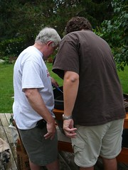 dad and david on the grill (alist) Tags: family alist robison alicerobison 66214 ajrobison