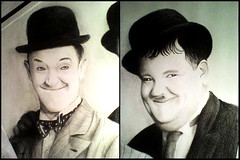 Laurel & Hardy (Manetok) Tags: laurel hardy dibujo portrait draw laurelhardy pencildraw elgordoyelflaco artwork
