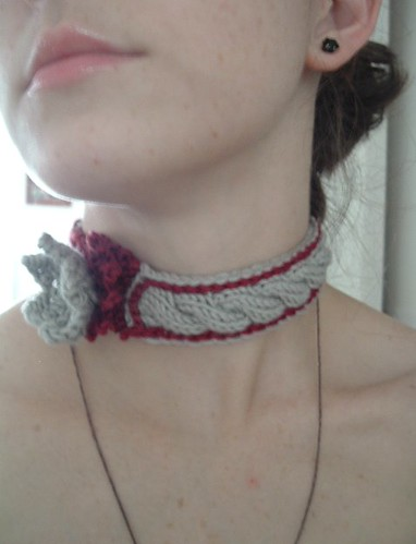 Moonflower Choker, With Cables Showing
